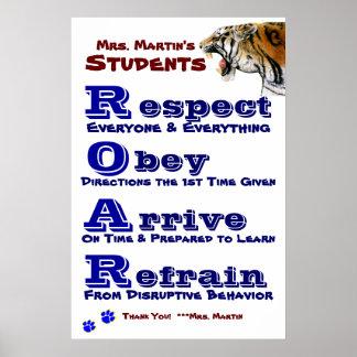 Pautas/reglas de la clase póster