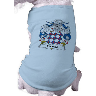 Pavao Family Crest Doggie T Shirt