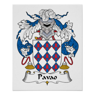 Pavao Family Crest Print