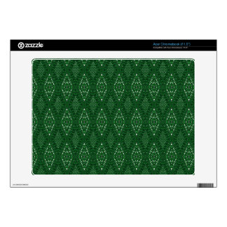 Pave Diamonds Emerald Vinyl Acer Chromebook Skin