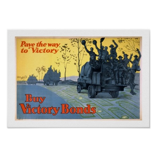 Pave The Way To Victory (white) Poster