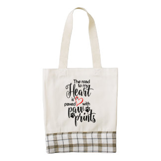 Paved In Paw Prints Zazzle HEART Tote Bag