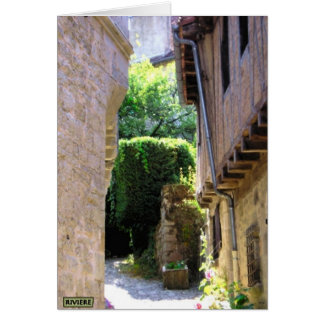 Paved Street, France Card