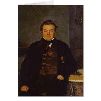 Pavel Fedotov- Portrait of F. Ye. Yakovlev Greeting Cards