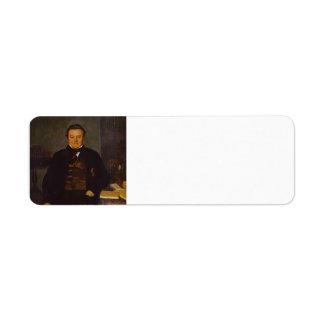 Pavel Fedotov- Portrait of F. Ye. Yakovlev Return Address Labels