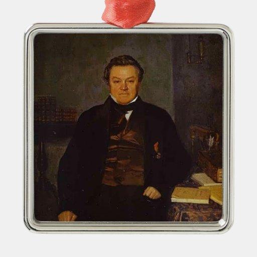 Pavel Fedotov- Portrait of F. Ye. Yakovlev Christmas Ornaments