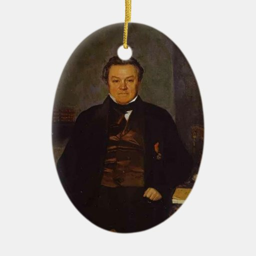 Pavel Fedotov- Portrait of F. Ye. Yakovlev Ornament