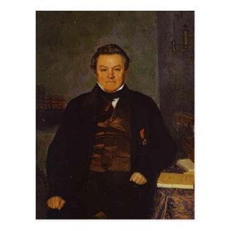 Pavel Fedotov- Portrait of F. Ye. Yakovlev Post Cards