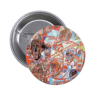 Pavel Filonov- A Man in the World Pinback Button