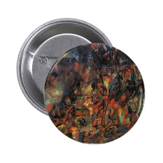 Pavel Filonov- Bourgeois in a Carriage Pinback Buttons