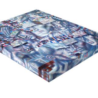 Pavel Filonov- Eleven Heads Stretched Canvas Prints