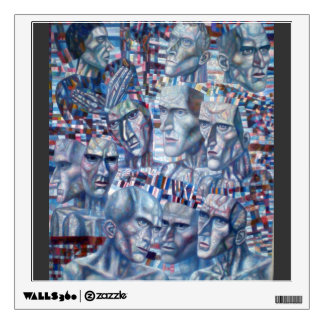 Pavel Filonov- Eleven Heads Wall Decals