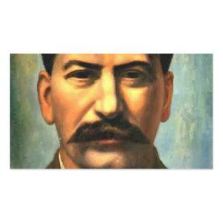 Pavel Filonov: Retrato de Joseph Stalin Plantilla De Tarjeta De Negocio