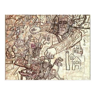 Pavel Filonov- The February Revolution Postcard