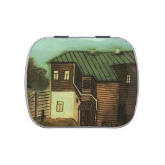 Pavel Filonov- una pequeña casa en Moscú Jarrones De Caramelos