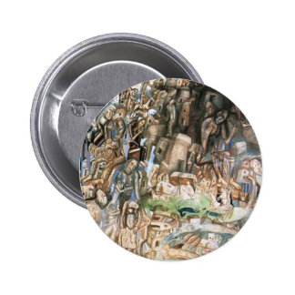Pavel Filonov- Untitled (The Riders) Pinback Buttons