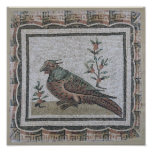 Pavement depicting a pheasant poster