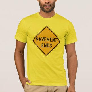 Pavement Ends 1, Traffic Warning Sign, USA T-Shirt