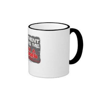 pavement fears me. i am a runner mug