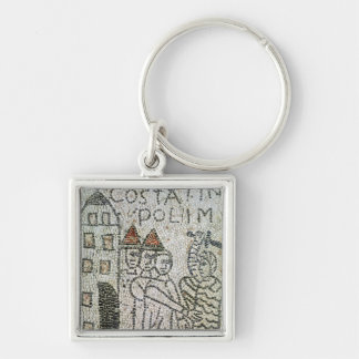 Pavement of St. John the Evangelist Silver-Colored Square Keychain