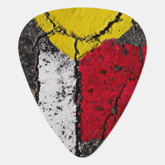 Pavement Road Paint Art - Cool - Fun Guitar Pick