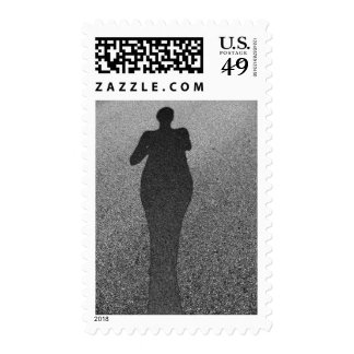 Pavement Shadow by Leslie Peppers Postage