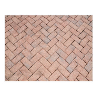 pavers in a herringbone pattern postcard