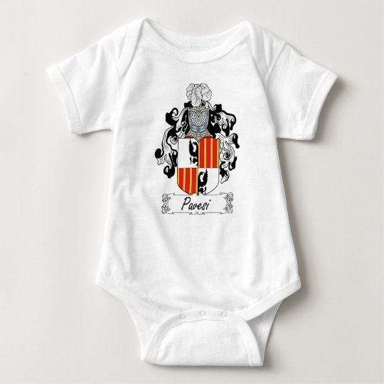 Pavesi Family Crest Baby Bodysuit