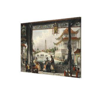 Pavilion and Gardens of a Mandarin near Peking, fr Canvas Print