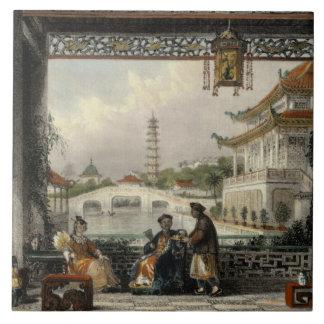 Pavilion and Gardens of a Mandarin near Peking, fr Ceramic Tile