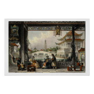 Pavilion and Gardens of a Mandarin near Peking, fr Poster