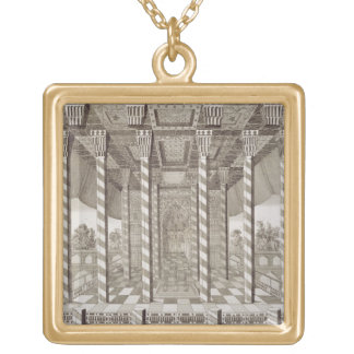 Pavilion at the Royal Palace at Isfahan, from 'Voy Square Pendant Necklace