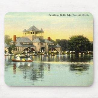 Pavilion, Belle Isle, Detroit Michigan 1915 Vinta mousepad