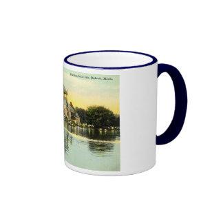 Pavilion Belle Isle, Detroit Michigan 1915 Vintage Ringer Coffee Mug