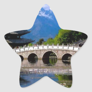 Pavilion Bride at Dragon Pool, Yunnan, China Star Sticker