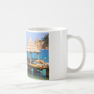Pavilion in a beach coffee mug