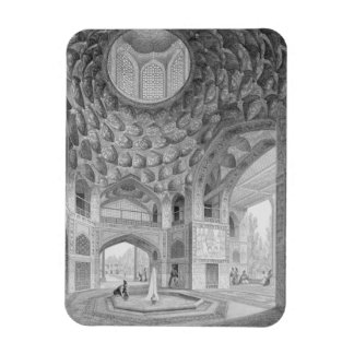 Pavilion of the Eight Paradises, in Isfahan, from Rectangular Photo Magnet