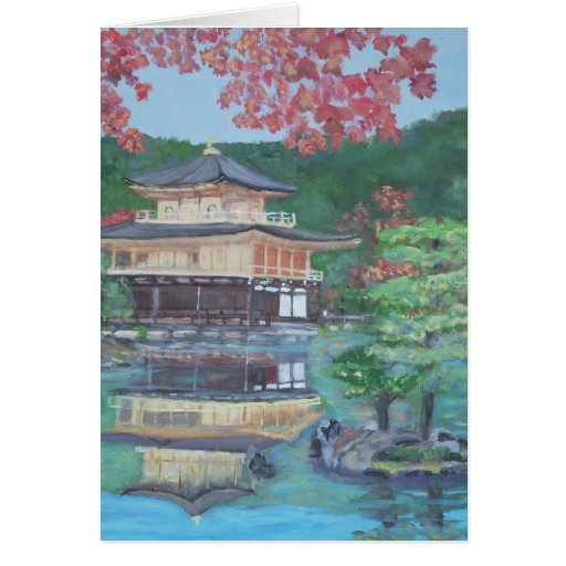 Pavillion de oro en Kyoto Tarjetas