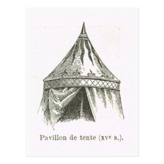 Pavillion de tente, 15th century postcard