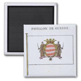 Pavillon de Guerre, detail from Flags from Monaco Magnet