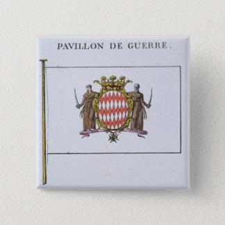 Pavillon de Guerre, detail from Flags from Monaco Pinback Button
