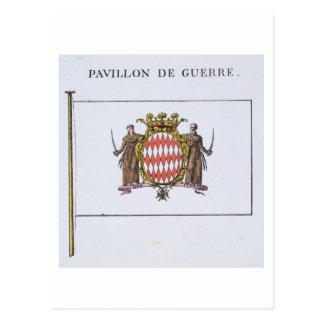 Pavillon de Guerre, detail from Flags from Monaco Postcard