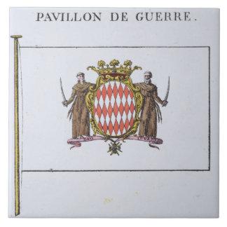 Pavillon de Guerre, detail from Flags from Monaco Tile