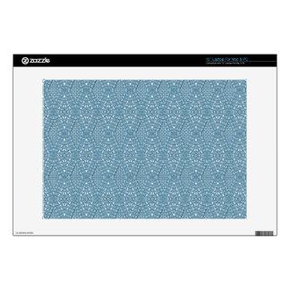 Pavimente la piel azul del ordenador portátil del calcomanía para portátil