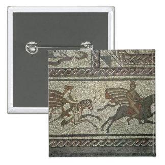 Pavimento de mosaico del chalet romano en el punto pin cuadrada 5 cm