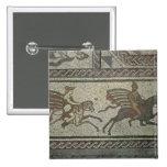 Pavimento de mosaico del chalet romano en el punto pin cuadrado