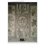 Pavimento de mosaico del chalet romano en el punto tarjeta de felicitación