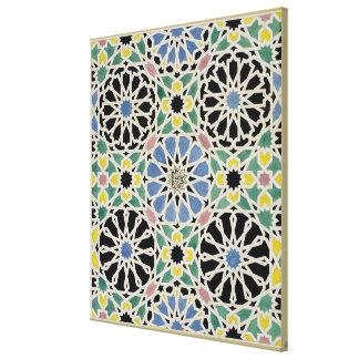 Pavimento de mosaico en Alhambra, 'del árabe Lona Envuelta Para Galerías