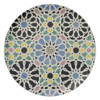 Pavimento de mosaico en Alhambra, 'del árabe Platos