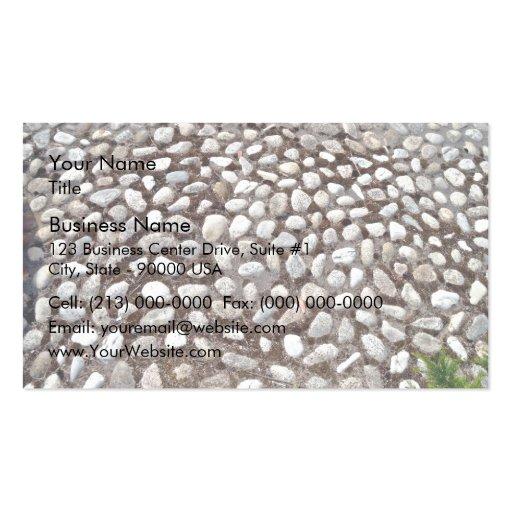 Pavimento del guijarro y plantas verdes plantilla de tarjeta de negocio